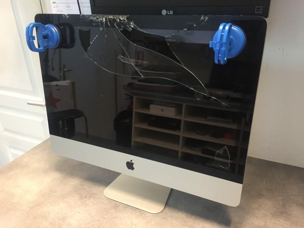 iMac vitre cassée